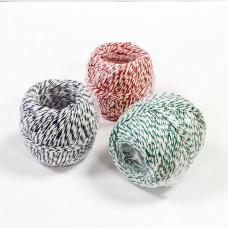Vrvica barvna/bela 100g - za mesnine